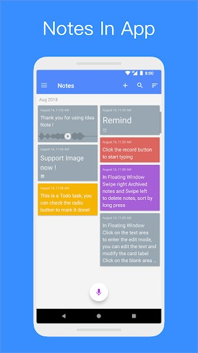 idea note floating note voice note voice memo 2 3 1 screenshot 7 1 - Software for Voice