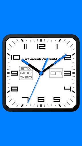 Square Analog Clock-7 | APK Download for Android