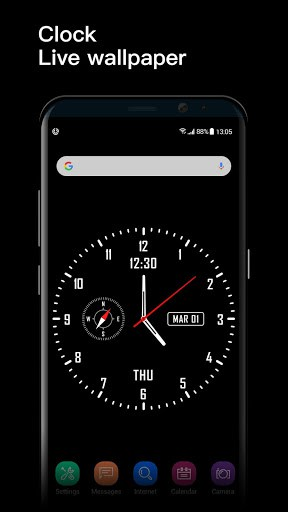Analog Clock Watch Face Live Wallpaper Apk Download For Android