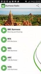 Android Apps Apk Burmese Radio 3.3 Screenshot 1