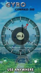 Apk Apps Gyro Compass-app voor Android: True North Direction 2.0 Screenshot 1