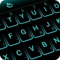 Apk Apps Simple Neon Blue Future Tech Keyboard