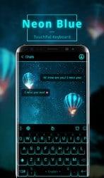 apk Apps ကပရိုးရှင်းသောနီယွန်အပြာရောင်အနာဂတ် Tech မှ Keyboard ကို