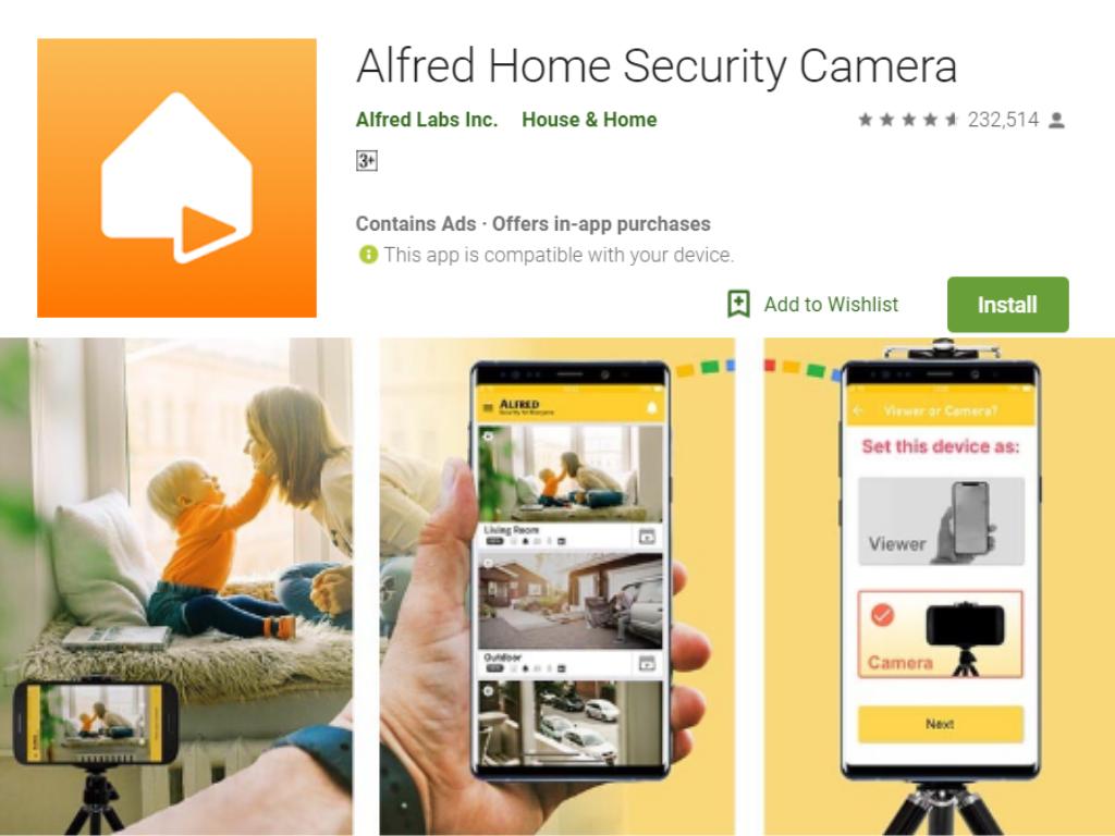 阿尔弗雷德家庭安全摄像头应用