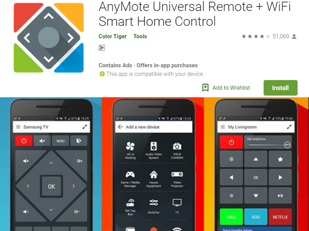 AnyMote Universal Remote app