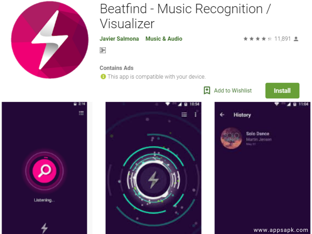 BeatFind Android app