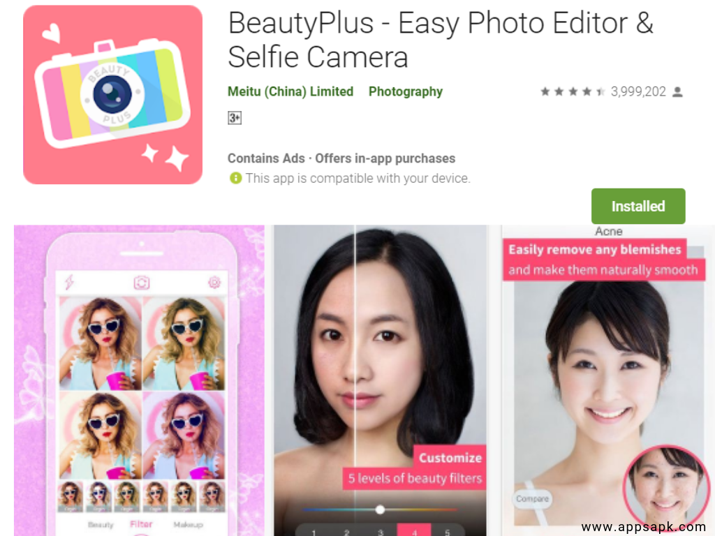 Beauty Plus app