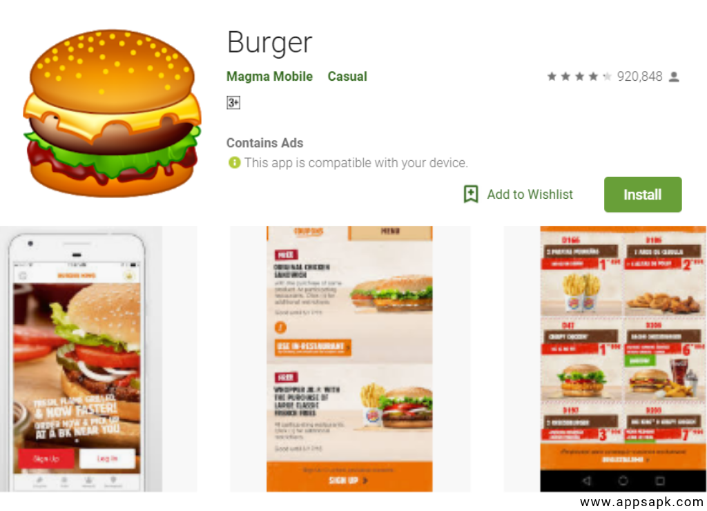 Burger Best Restaurant Games App