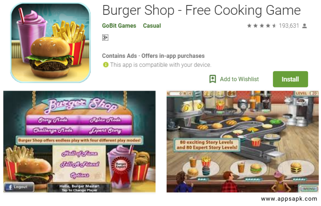 Burger Shop Free android app