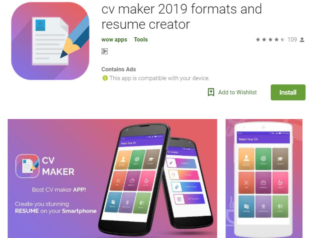 CV Maker 2019