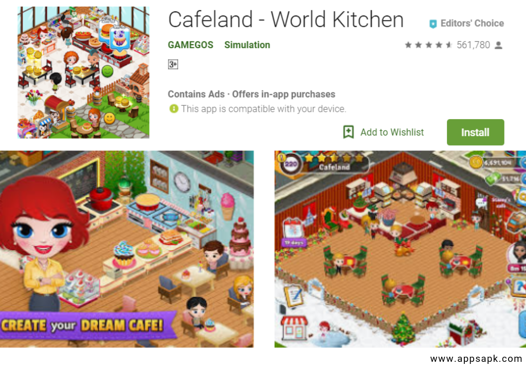 Cafeland – World Kitchen android app