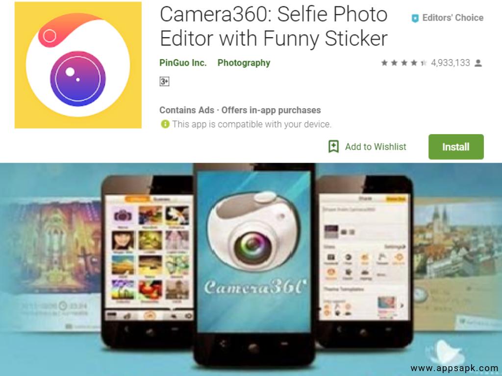 Camera360 android app