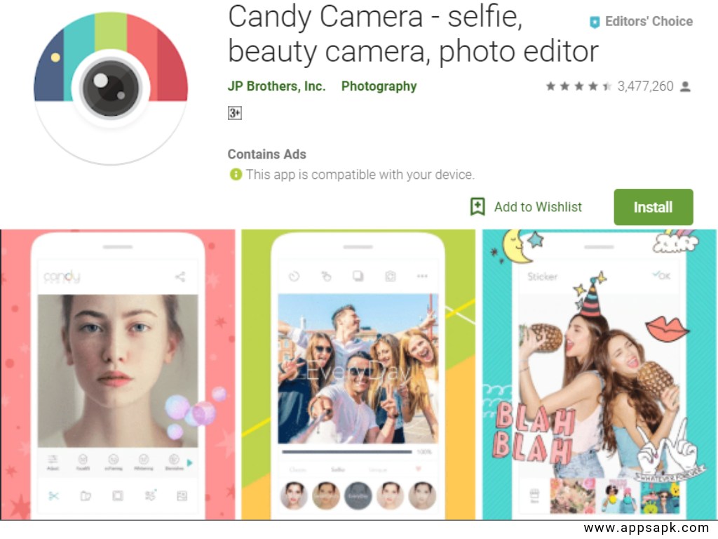Candy Camera beauty app for andorid