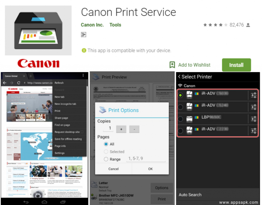 Canon Print Service for android
