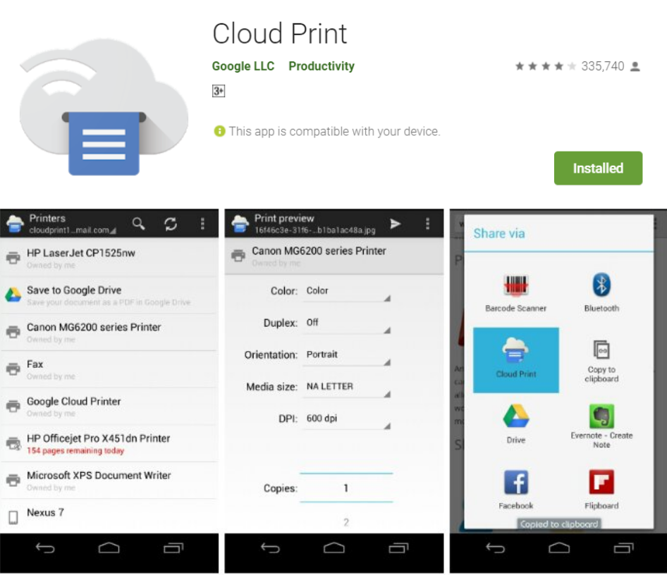 Cloud Printer for android