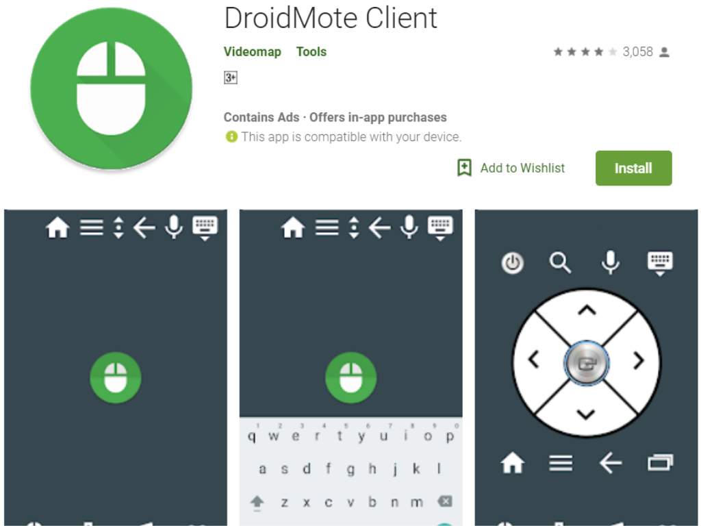 DroidMote android app