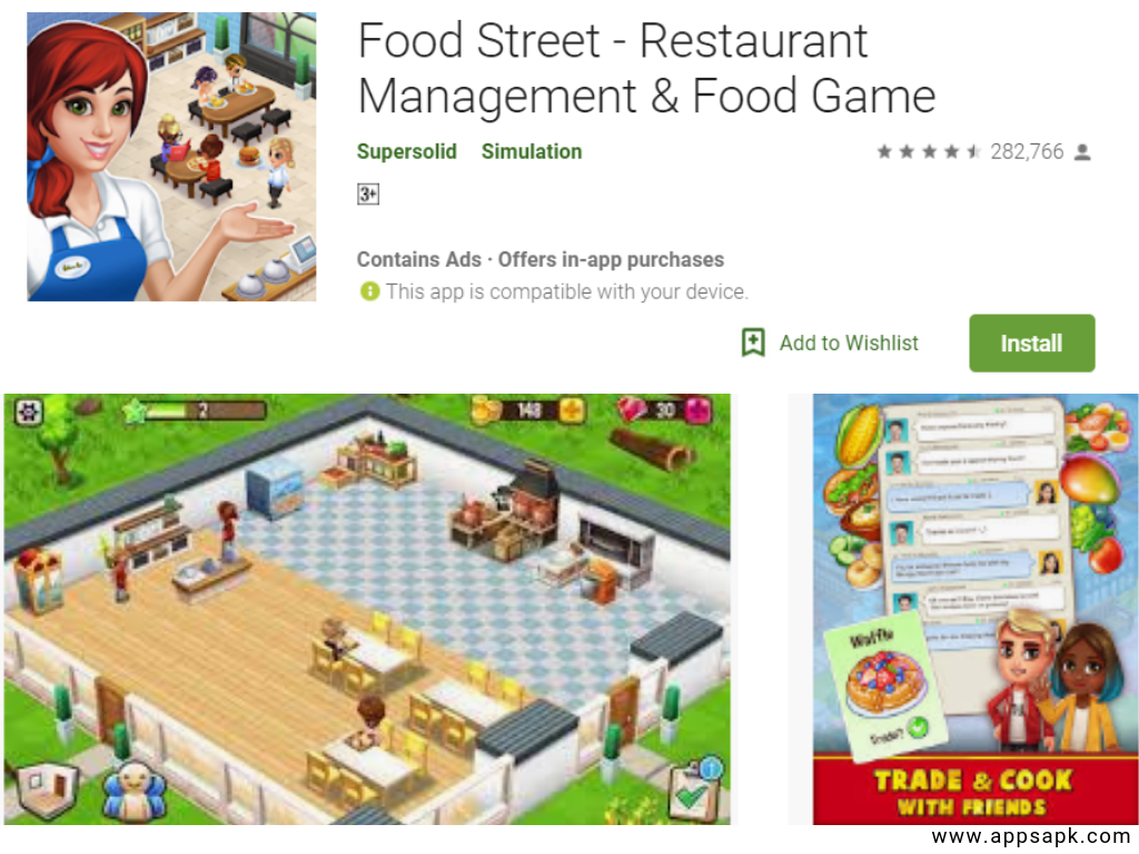 Food Street best restaurant games apps