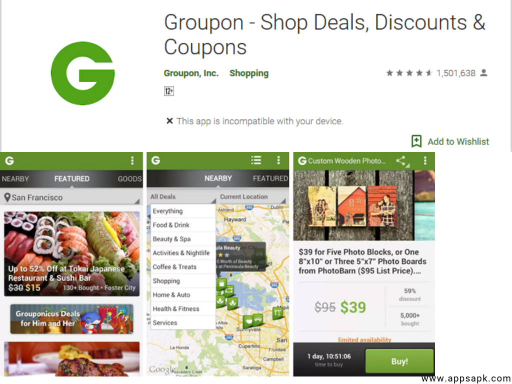 Groupon App for android