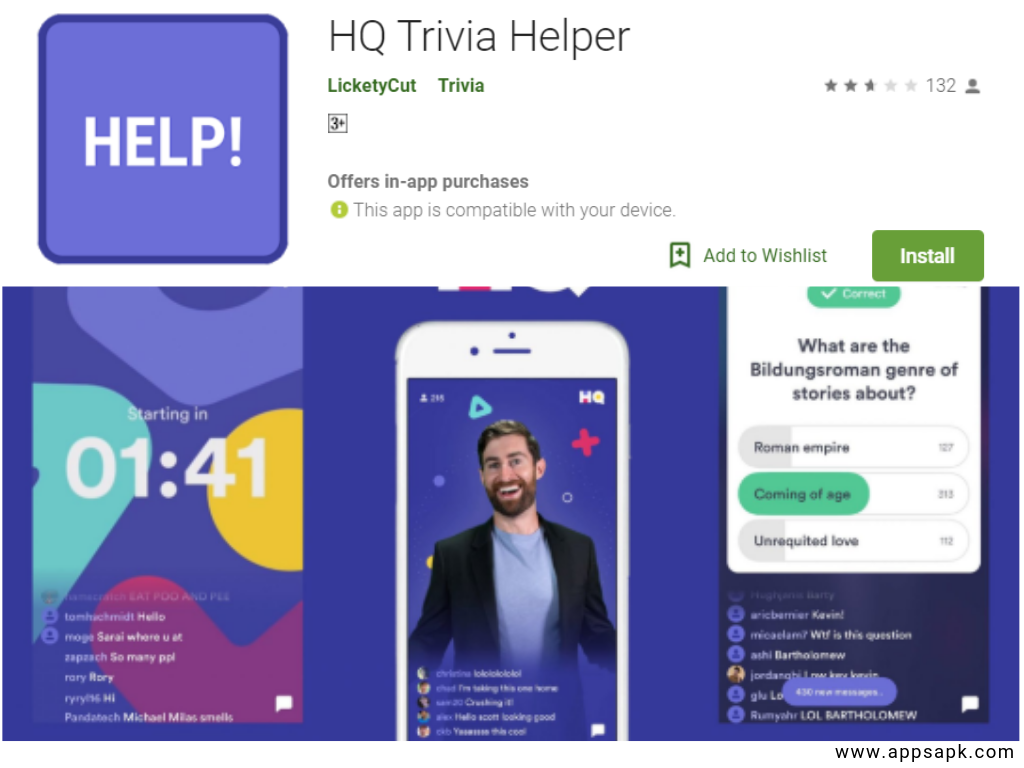 HQ Quiz App for Android