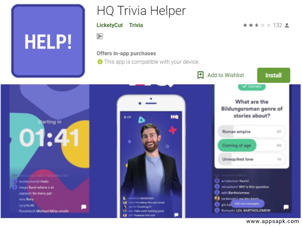 App HQ Quiz per Android