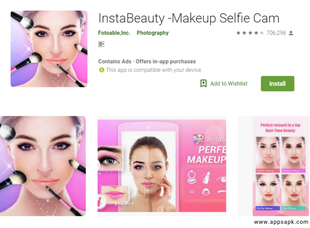 InstaBeauty Best Beauty Camera App