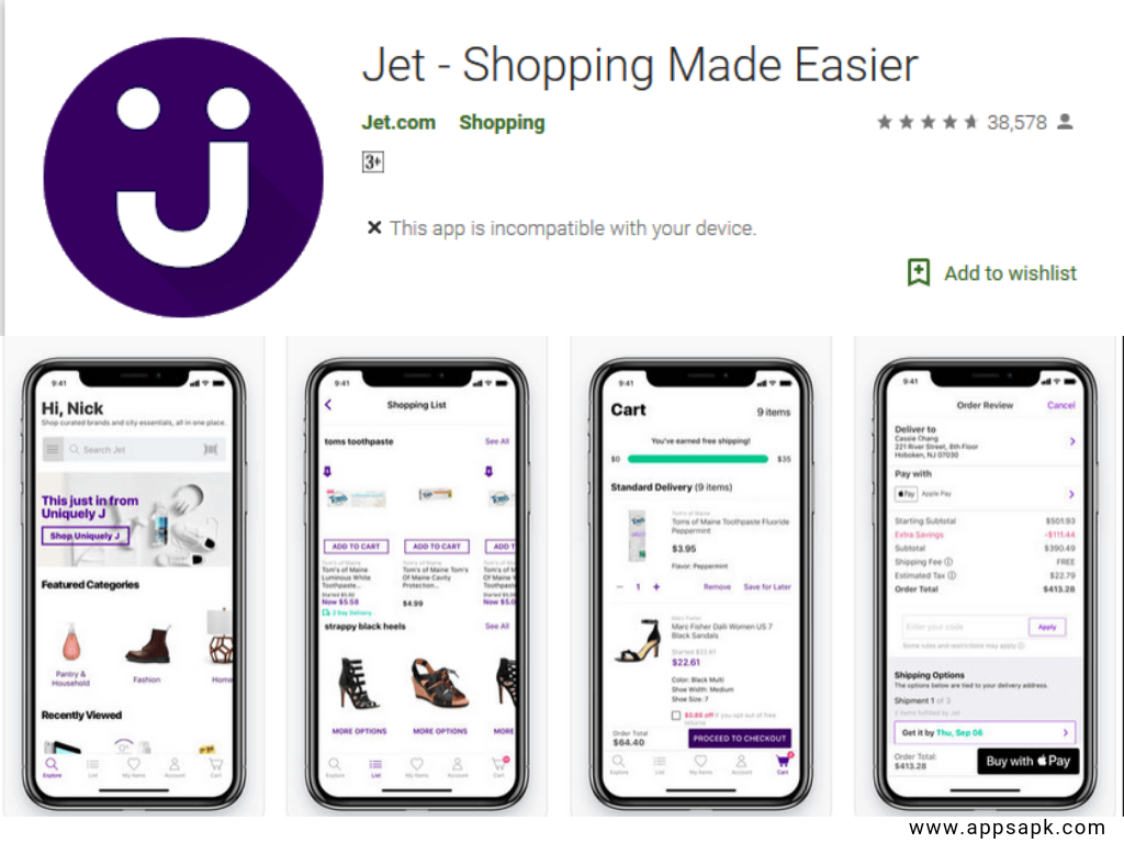 Jet App for android