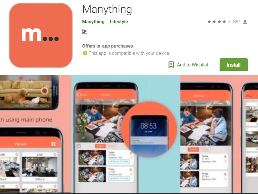 Manything app for android