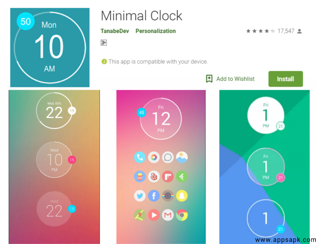 Minimal Clock for Anroid