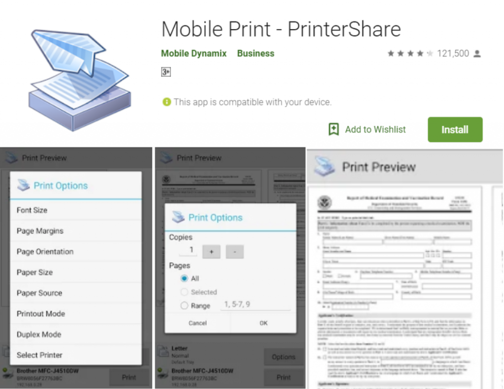 Mobile Print for android
