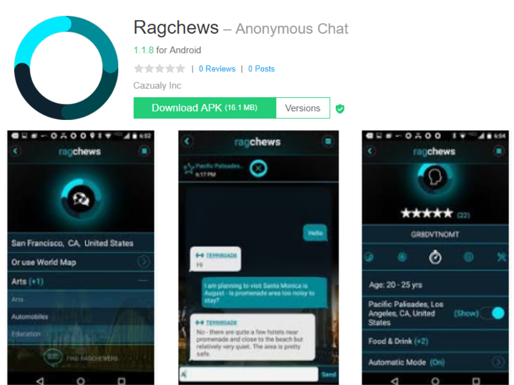 Ragchews Android app
