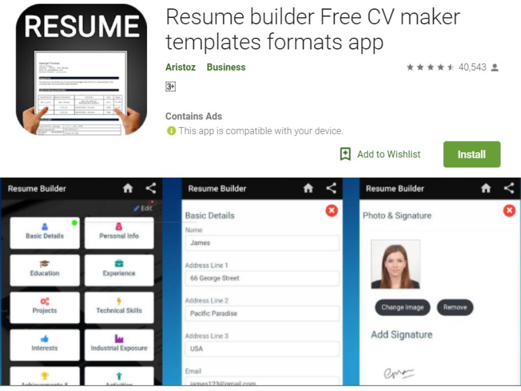 Resume Builder Free App