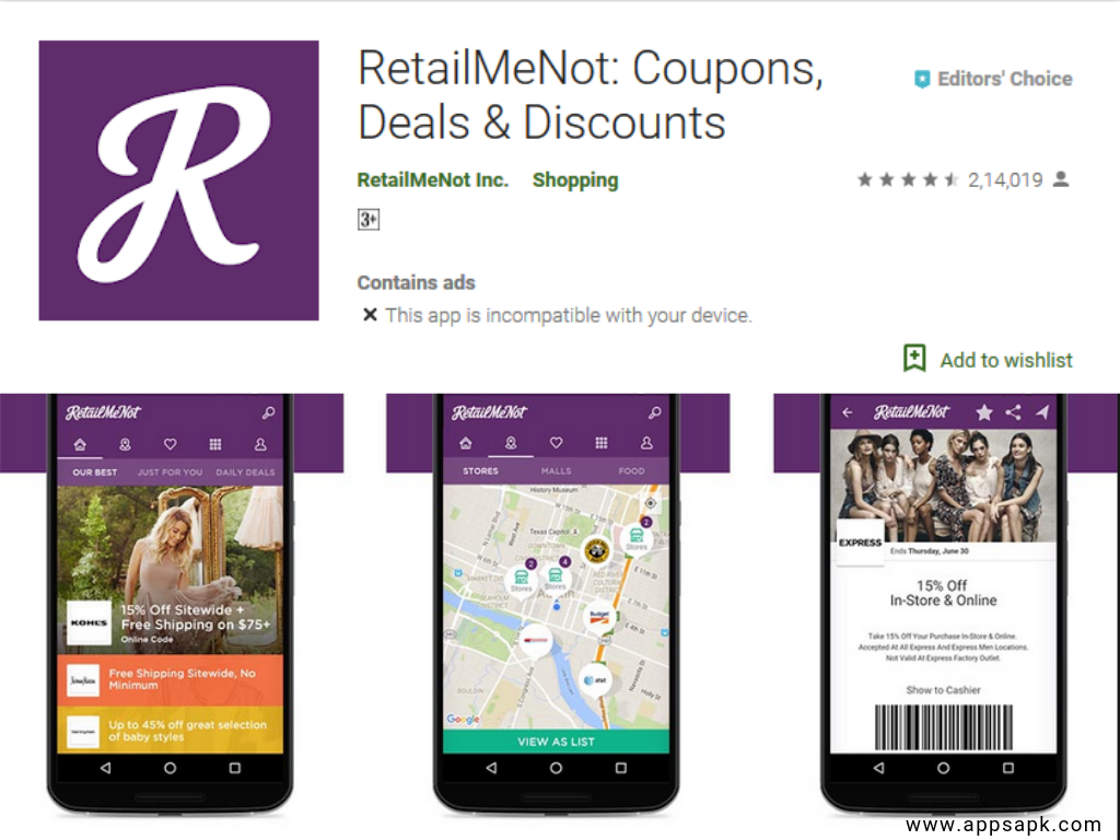 RetailMeNot Android Shopping App