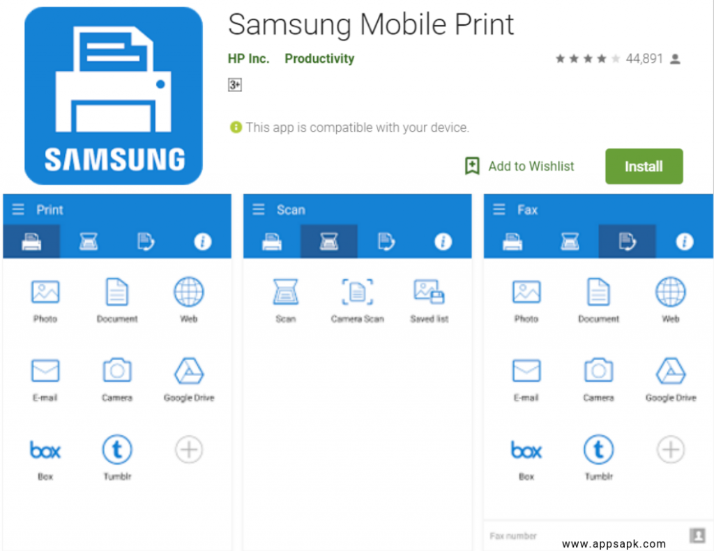 Samsung Mobile Print for android
