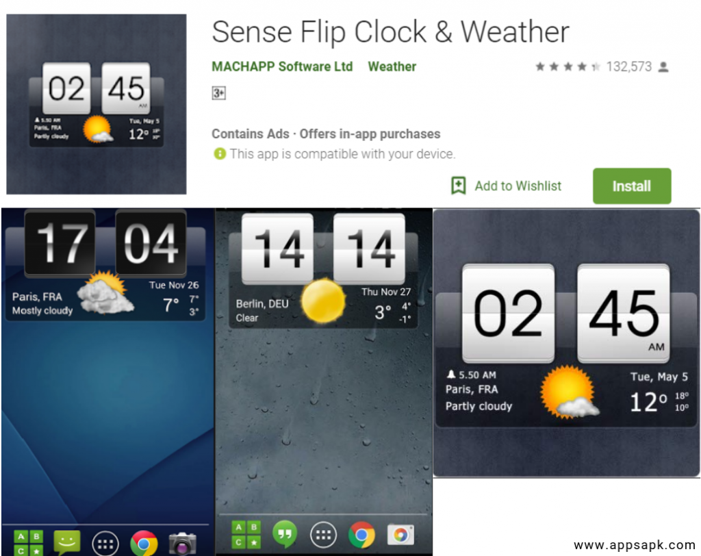 Sense Flip Clock for Android