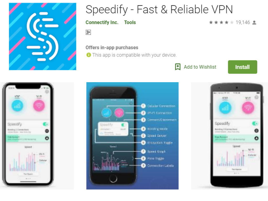 Speedify Wireless Internet Booster App for Android