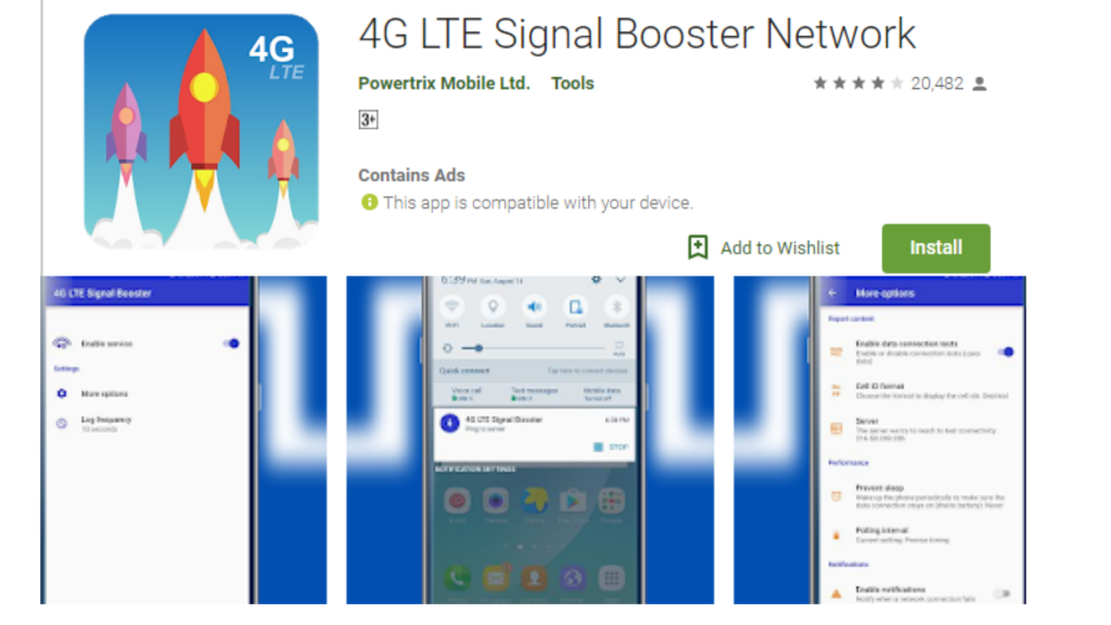 4G LTE Signal Booster Network App For Android