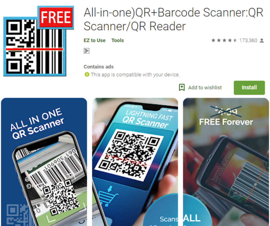 (All-in-one)QR+Barcode Scanner