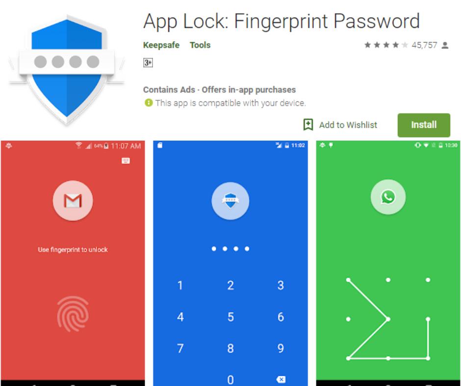 App Lock Fingerprint Password App