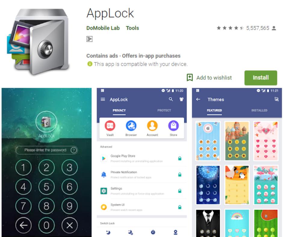 AppLock fingerprint lock screen app