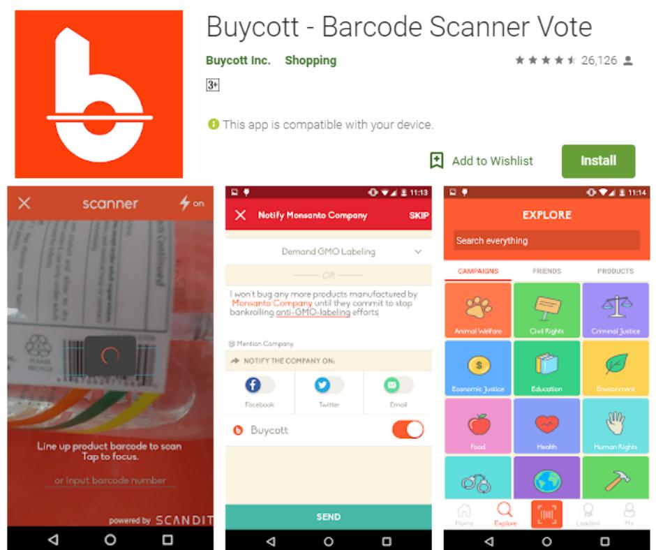 Buycott – Barcode Scanner Vote