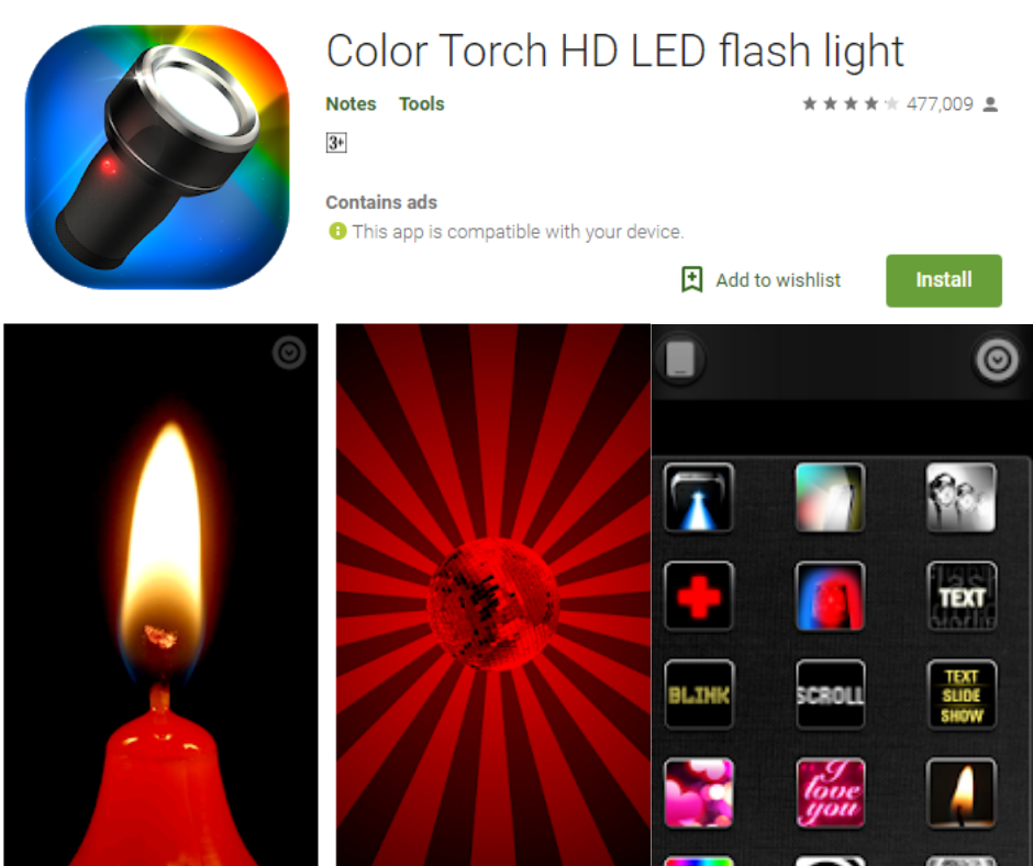 Color Torch HD LED Flash Light