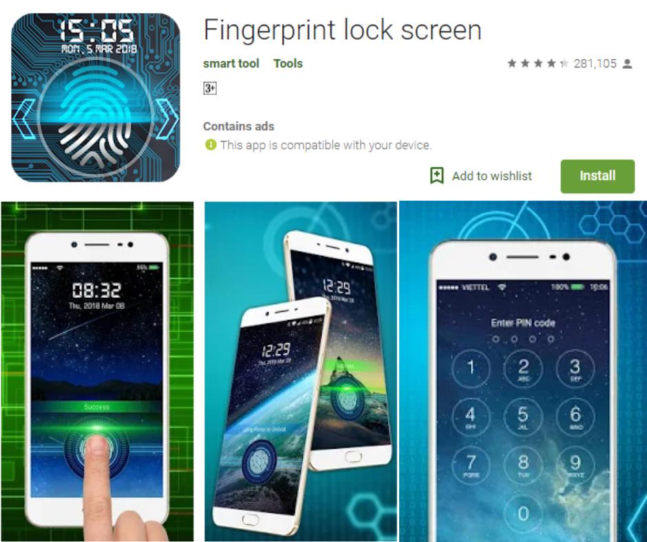 Fingerprint Lock Scree App