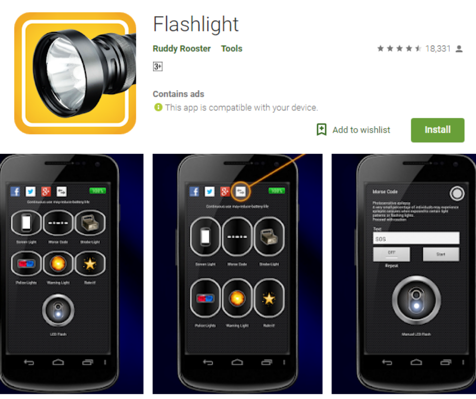 Flashlight by Ruddy Rooster APK