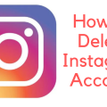 Know How To Delete Instagram Account
