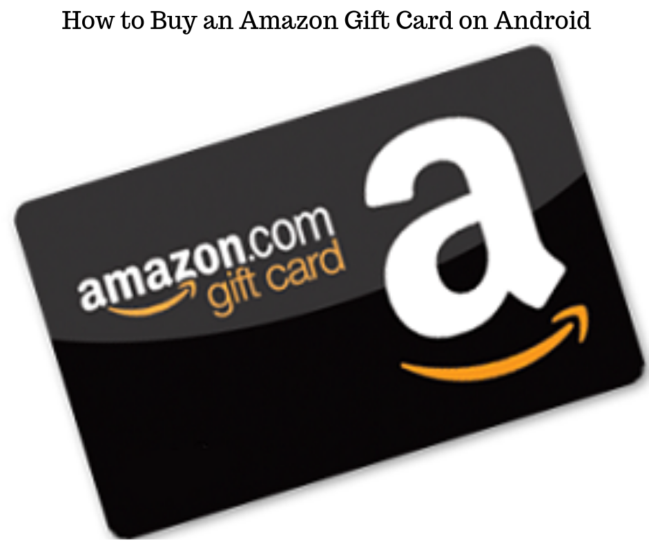 Buy an amazon gift card