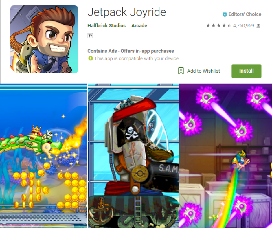 Jetpack Joyride Best Time Killers Games