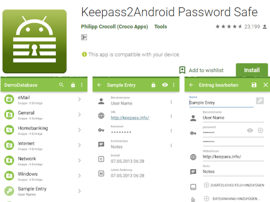 Keepass2Android Şifre Yöneticisi