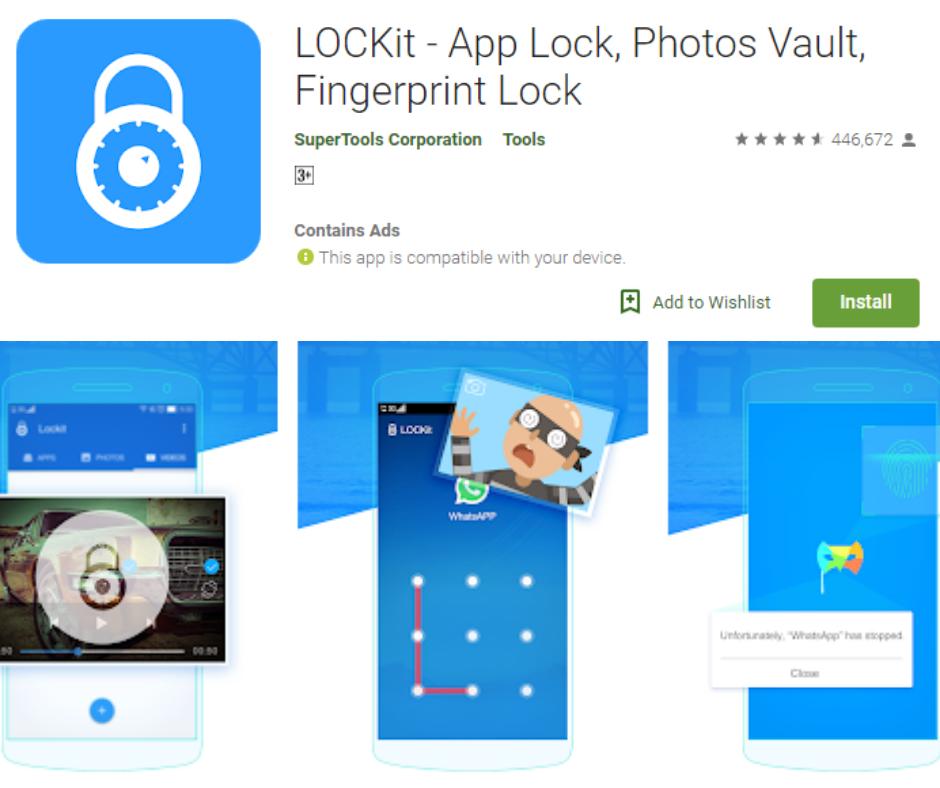LOCKit fingerprint lock screen app