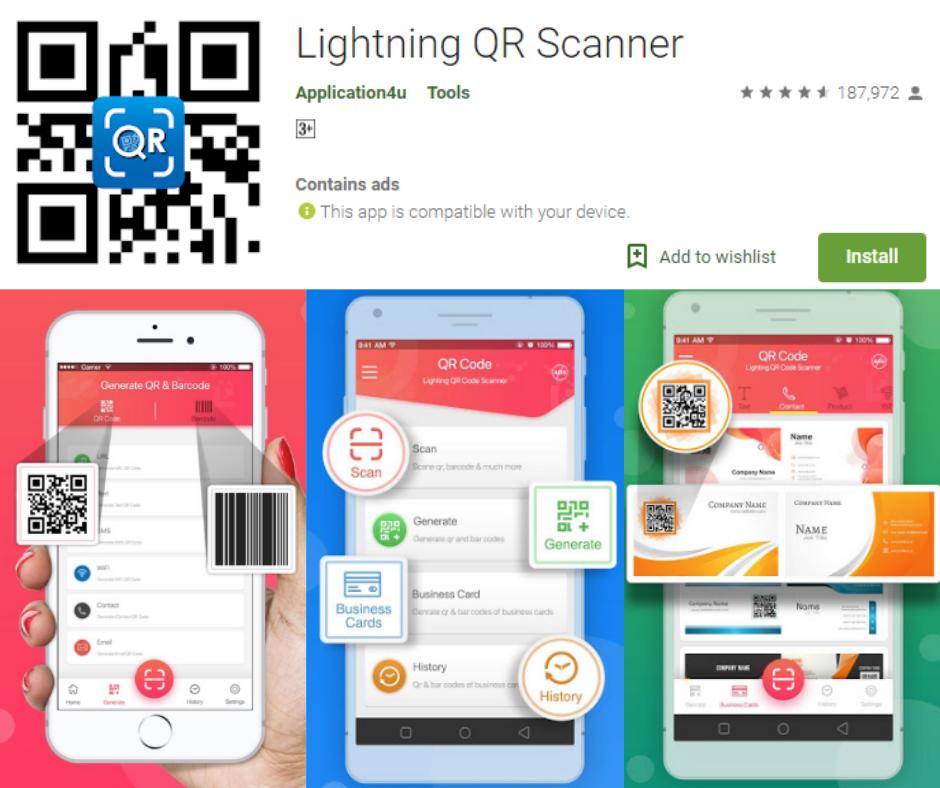 Lightning QR Scanner