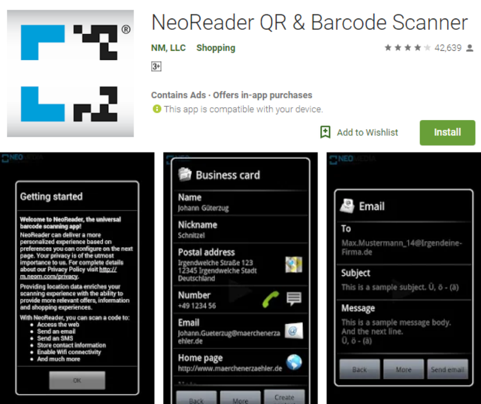 NeoReader QR و ماسح الباركود